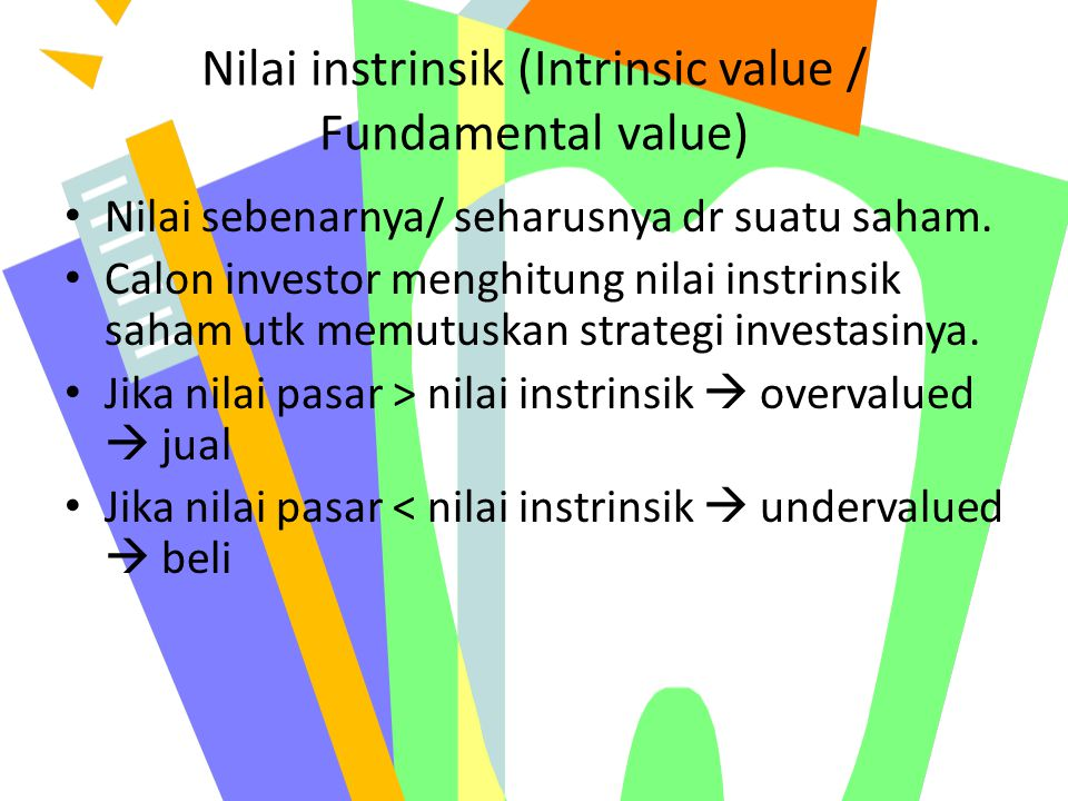 Nilai instrinsik (Intrinsic value / Fundamental value)