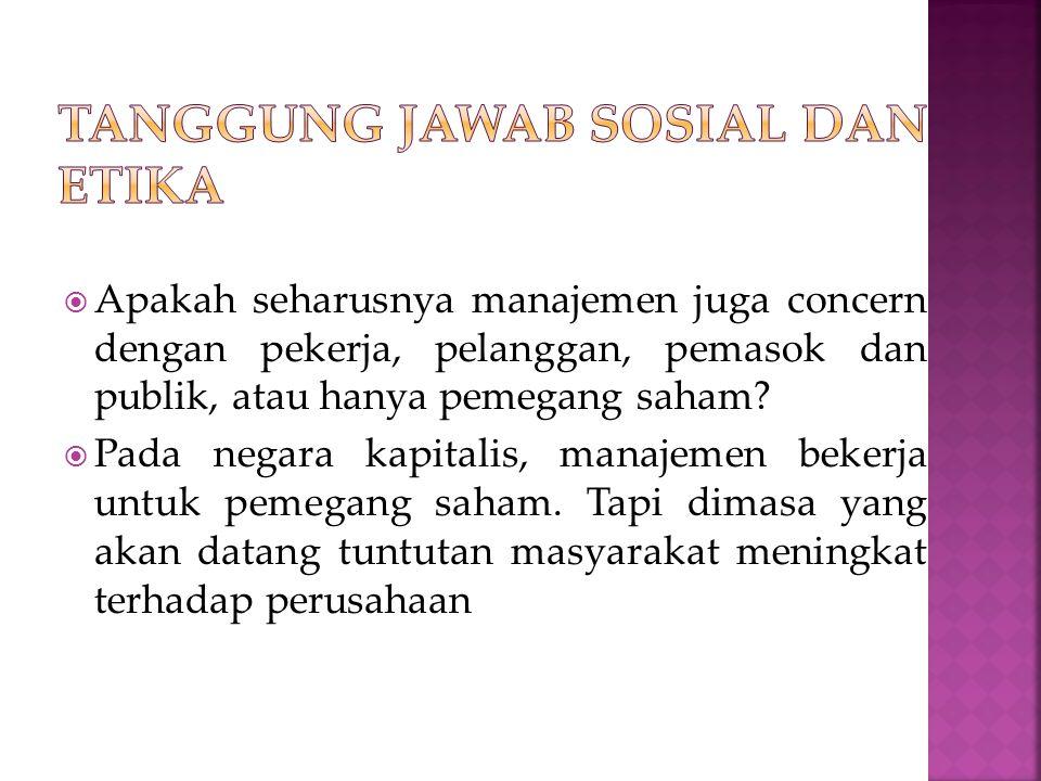 Tanggung jawab sosial dan etika