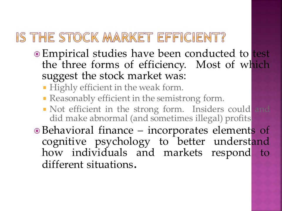Is the stock market efficient