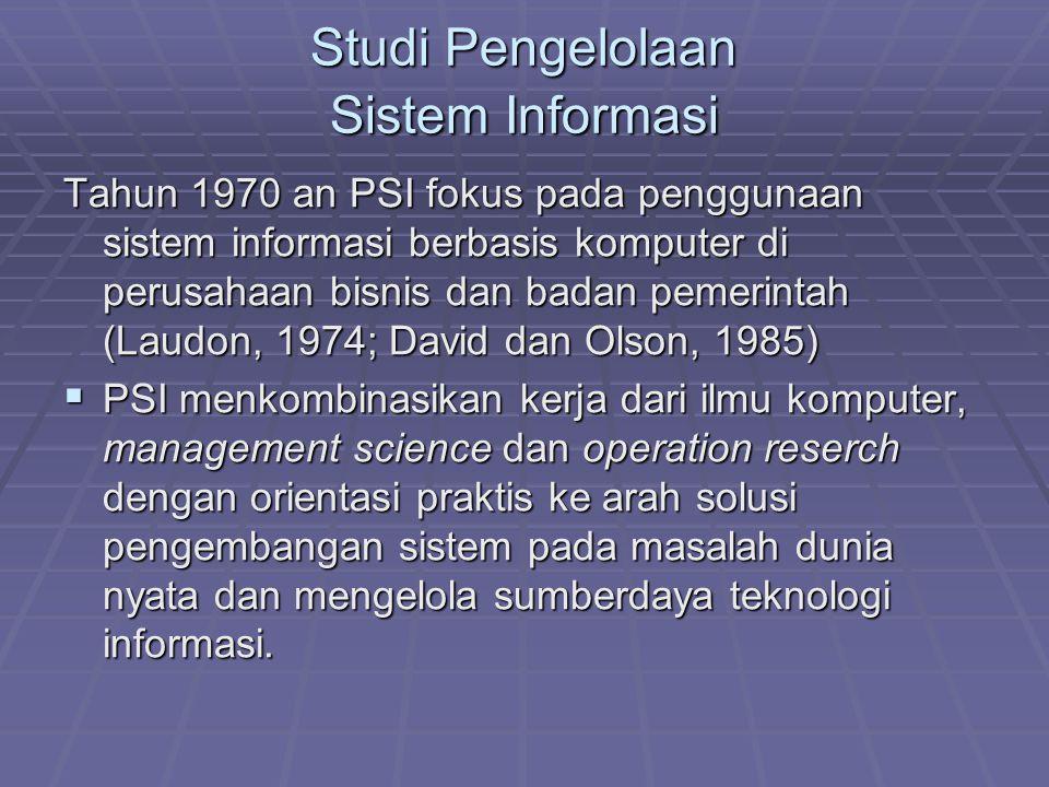 Studi Pengelolaan Sistem Informasi