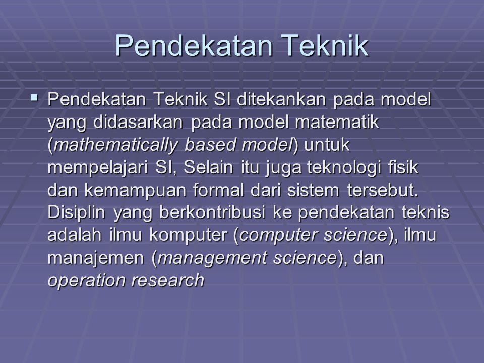 Pendekatan Teknik