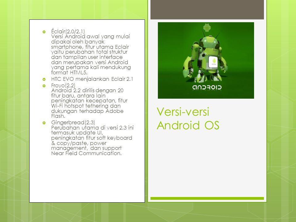 Versi-versi Android OS