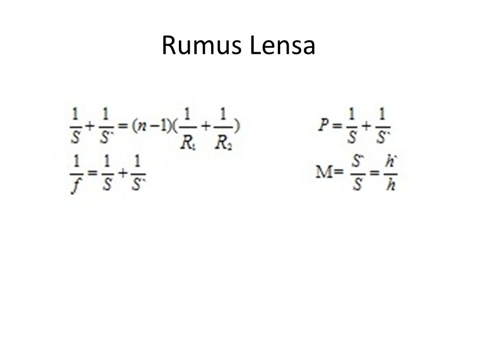 Rumus Lensa