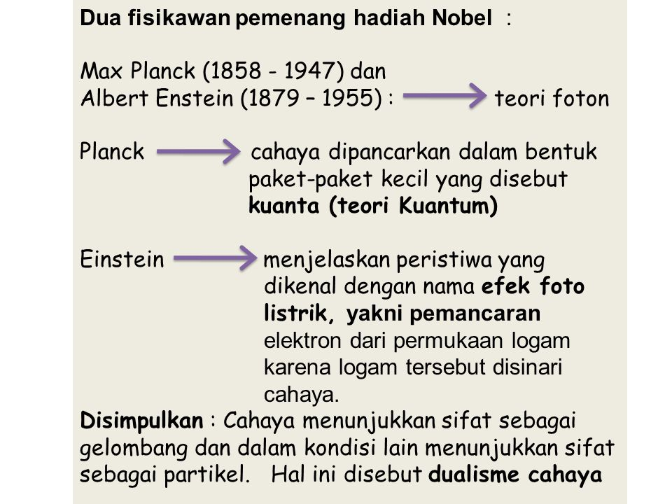 Dua fisikawan pemenang hadiah Nobel :