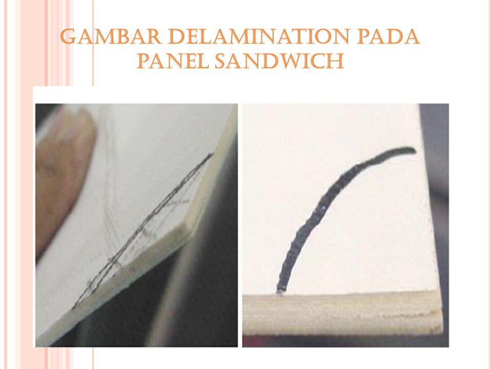 Gambar Delamination pada panel Sandwich