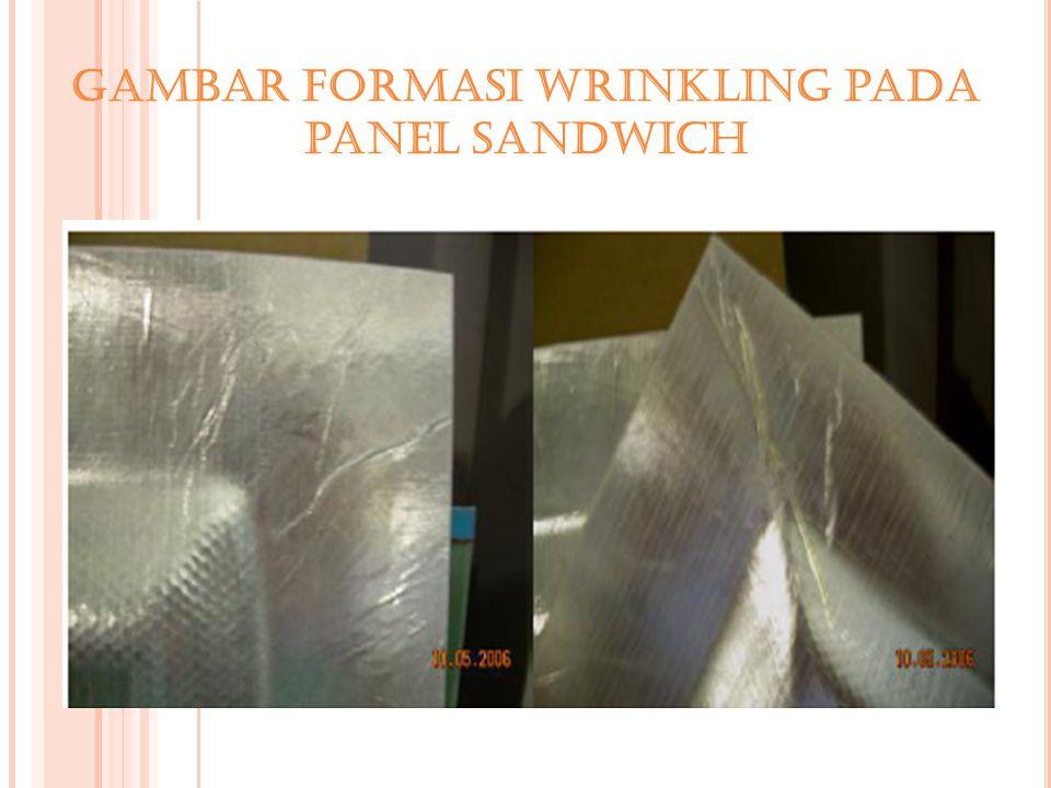 Gambar Formasi wrinkling pada panel sandwich