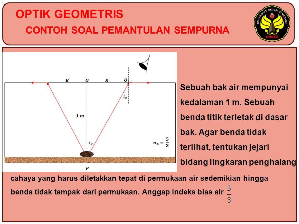 OPTIK GEOMETRIS CONTOH SOAL PEMANTULAN SEMPURNA