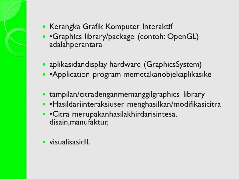 Kerangka Grafik Komputer Interaktif