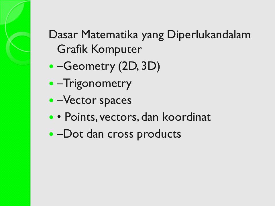 Dasar Matematika yang Diperlukandalam Grafik Komputer