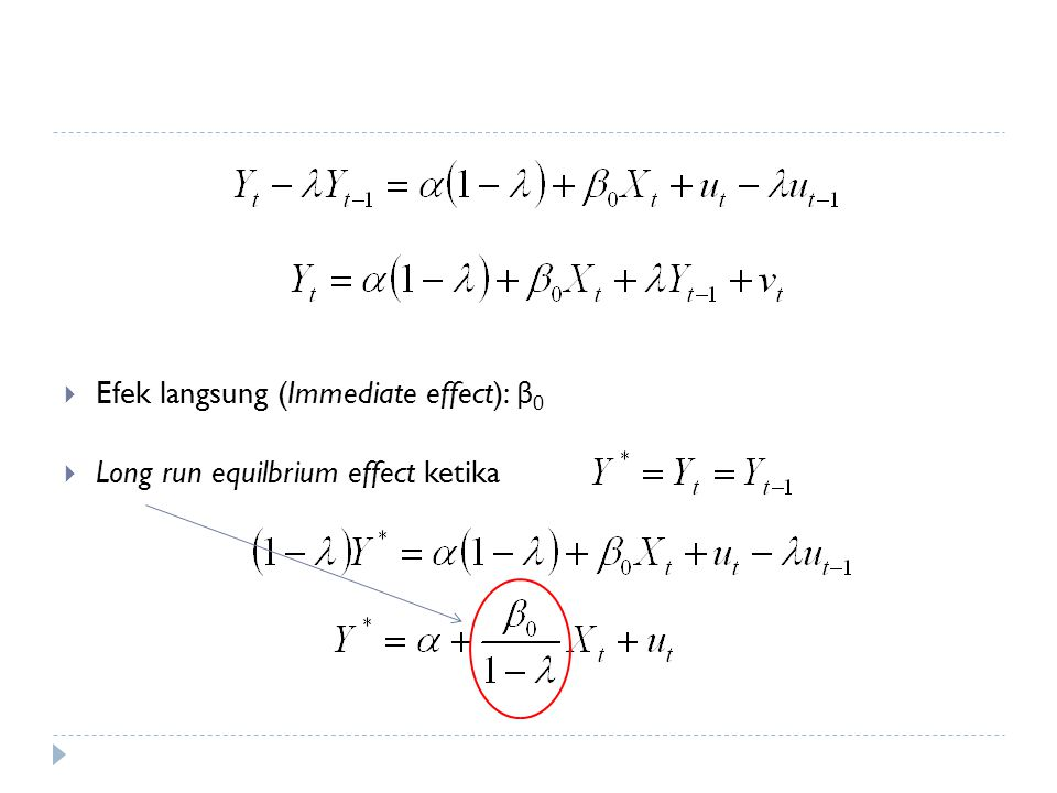 Efek langsung (Immediate effect): β0