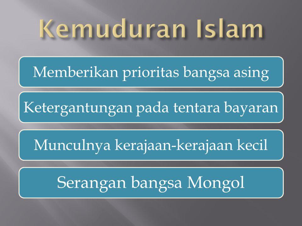 Kemuduran Islam Serangan bangsa Mongol