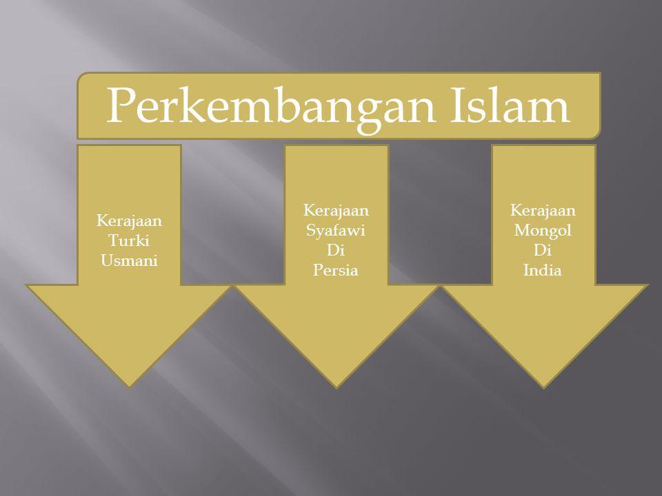 Perkembangan Islam Kerajaan Turki Usmani Kerajaan Syafawi Di Persia