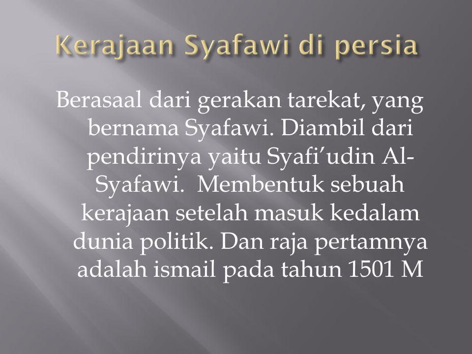 Kerajaan Syafawi di persia