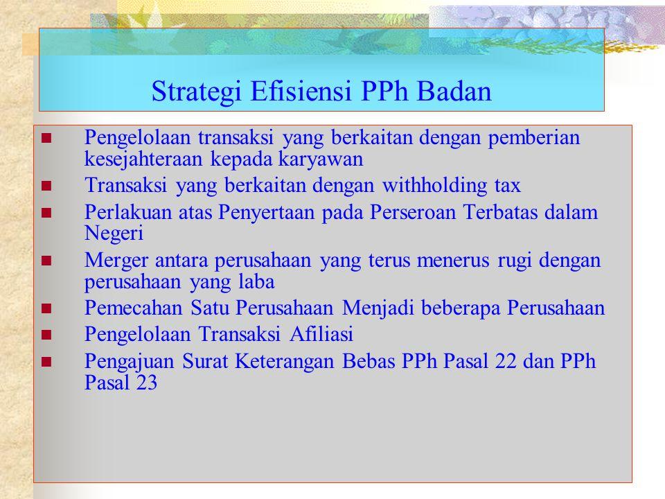 Strategi Efisiensi PPh Badan