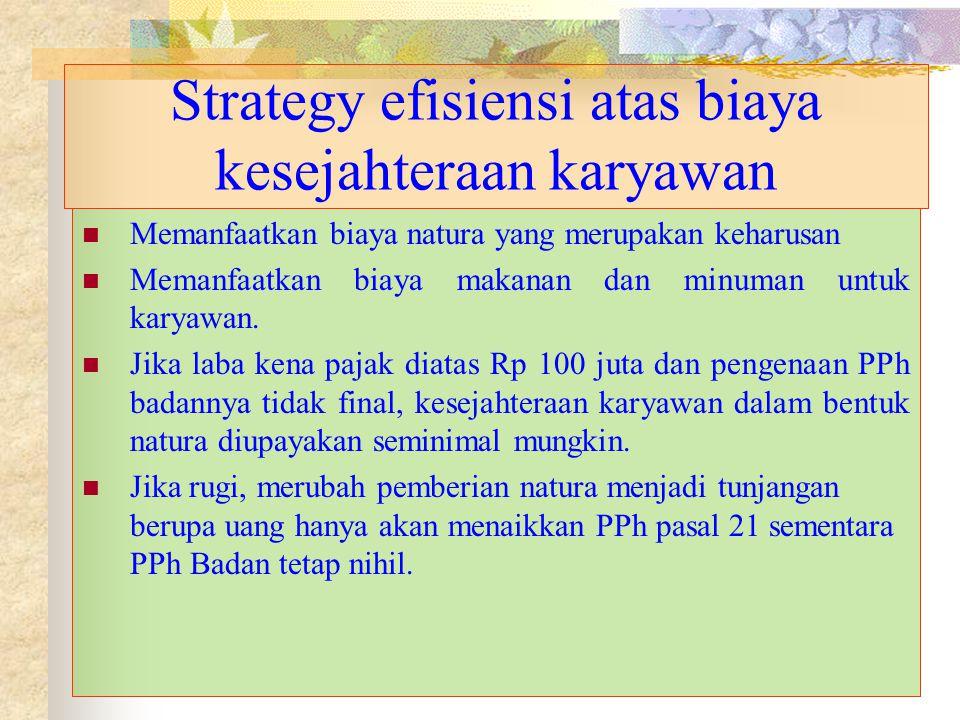 Strategy efisiensi atas biaya kesejahteraan karyawan