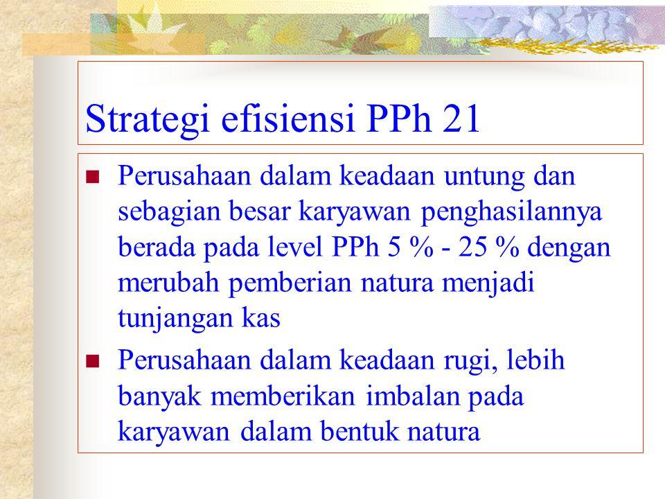 Strategi efisiensi PPh 21