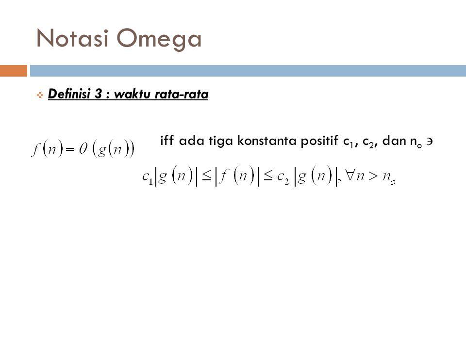 Notasi Omega Definisi 3 : waktu rata-rata