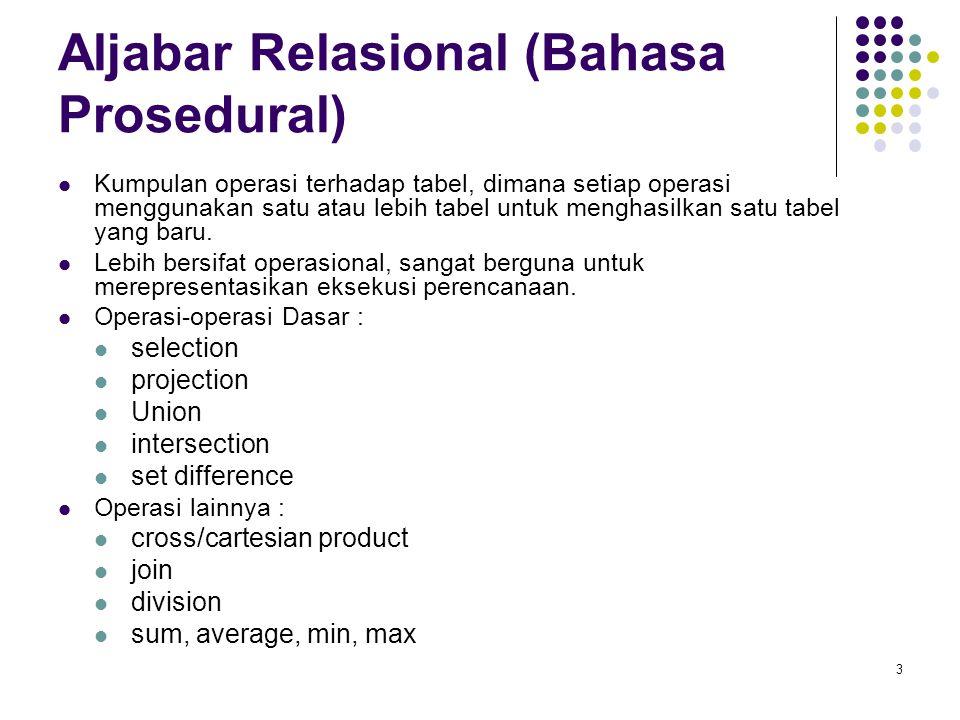 Aljabar Relasional (Bahasa Prosedural)