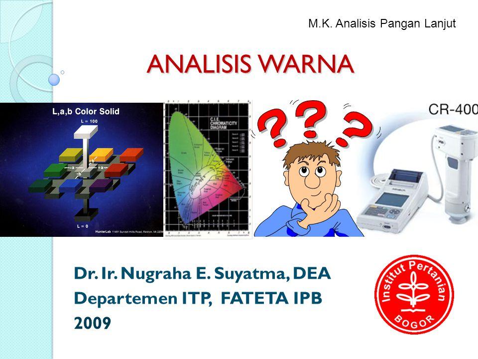 Dr. Ir. Nugraha E. Suyatma, DEA Departemen ITP, FATETA IPB 2009