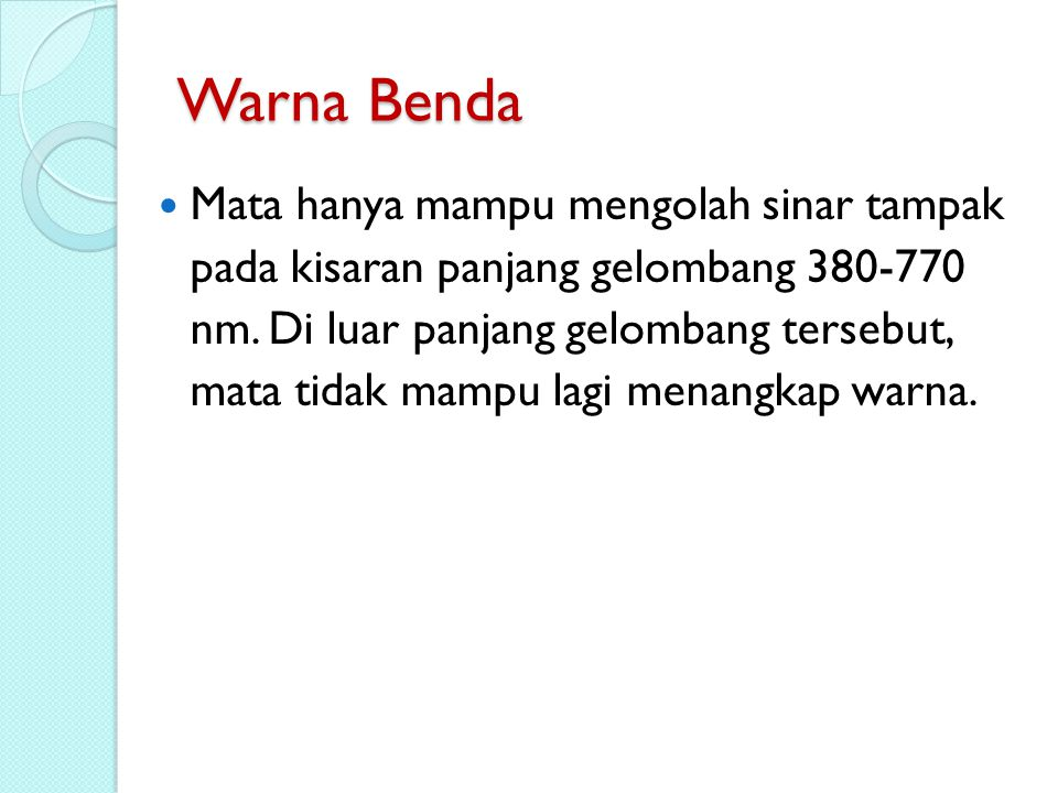 Warna Benda