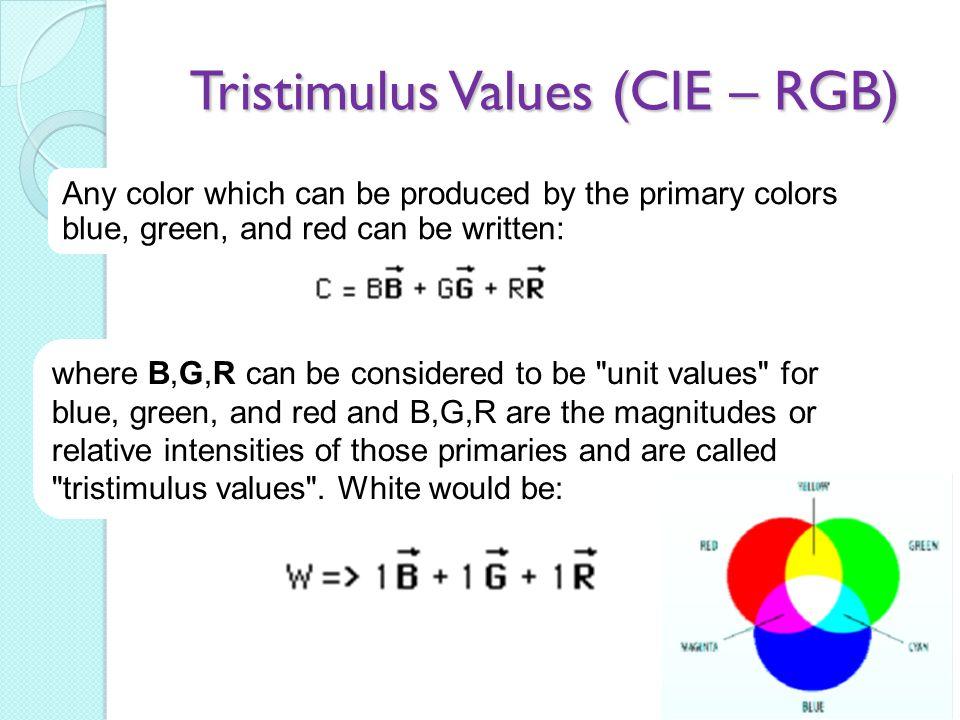 Tristimulus Values (CIE – RGB)