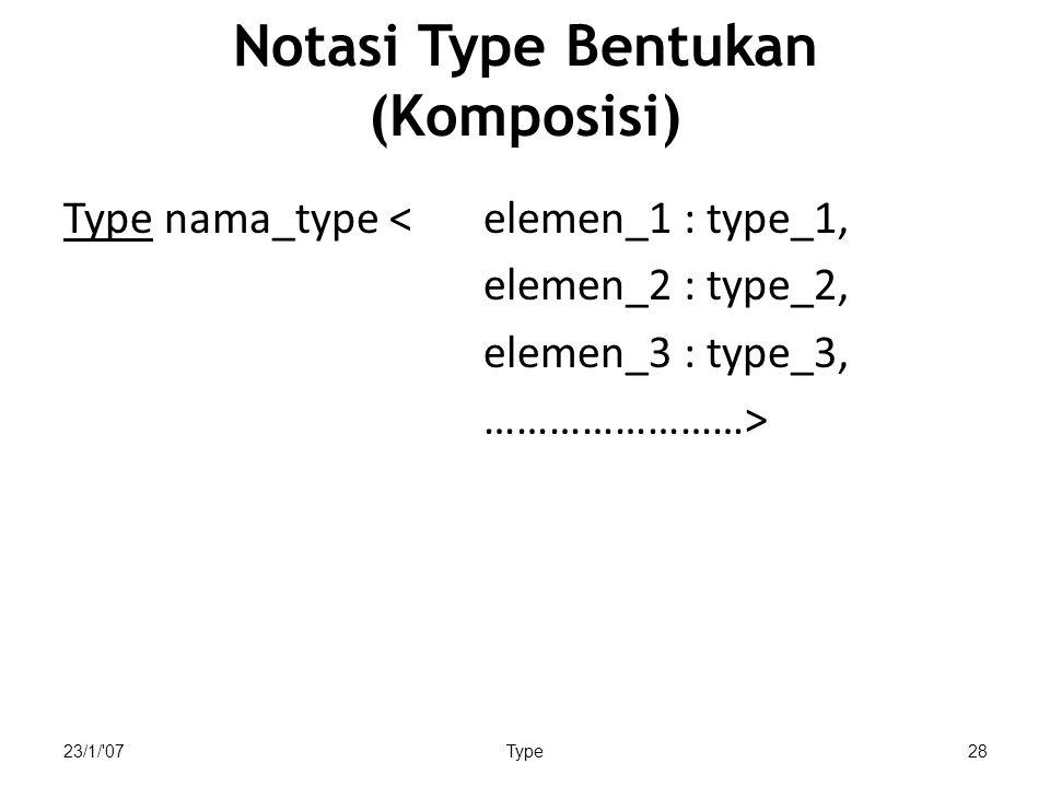 Notasi Type Bentukan (Komposisi)