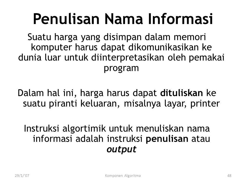 Penulisan Nama Informasi
