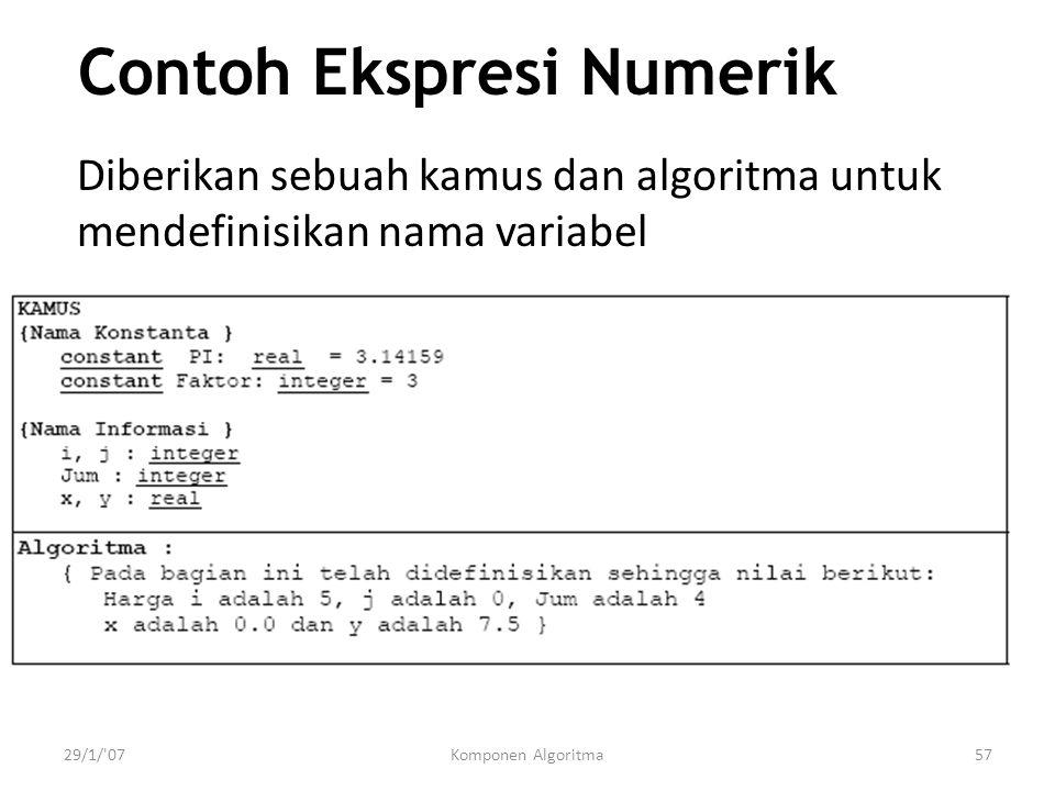 Contoh Ekspresi Numerik