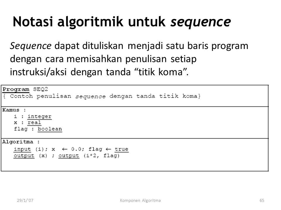 Notasi algoritmik untuk sequence