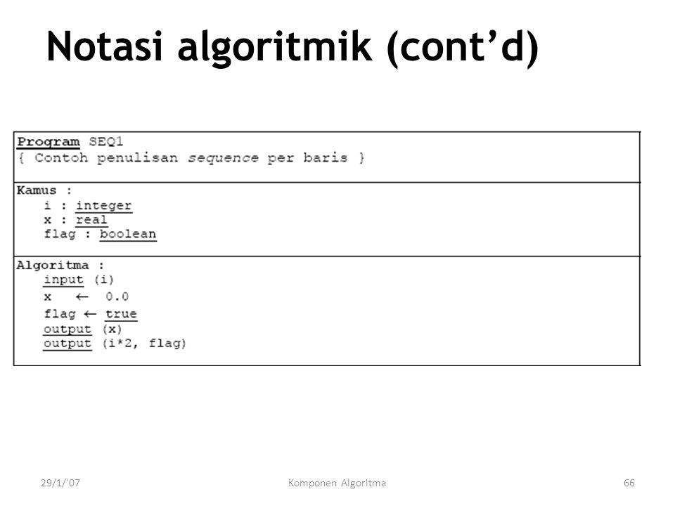 Notasi algoritmik (cont'd)