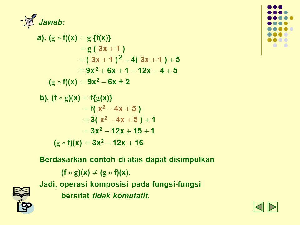 = 9x 2 + 6x + 1  12x  4 + 5 (g  f)(x) = 9x2  6x + 2
