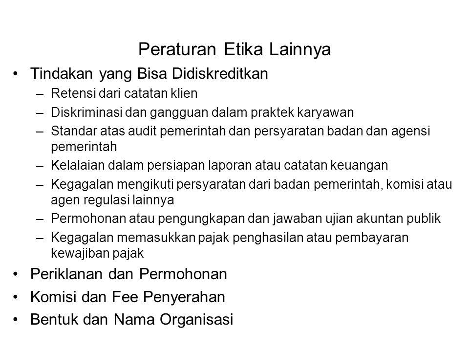 Peraturan Etika Lainnya