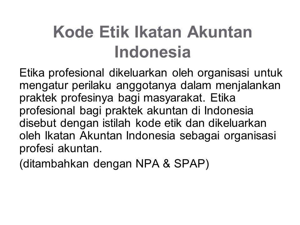 Kode Etik Ikatan Akuntan Indonesia