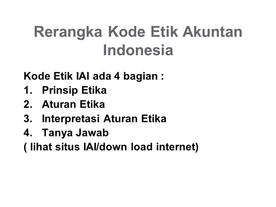 Rerangka Kode Etik Akuntan Indonesia