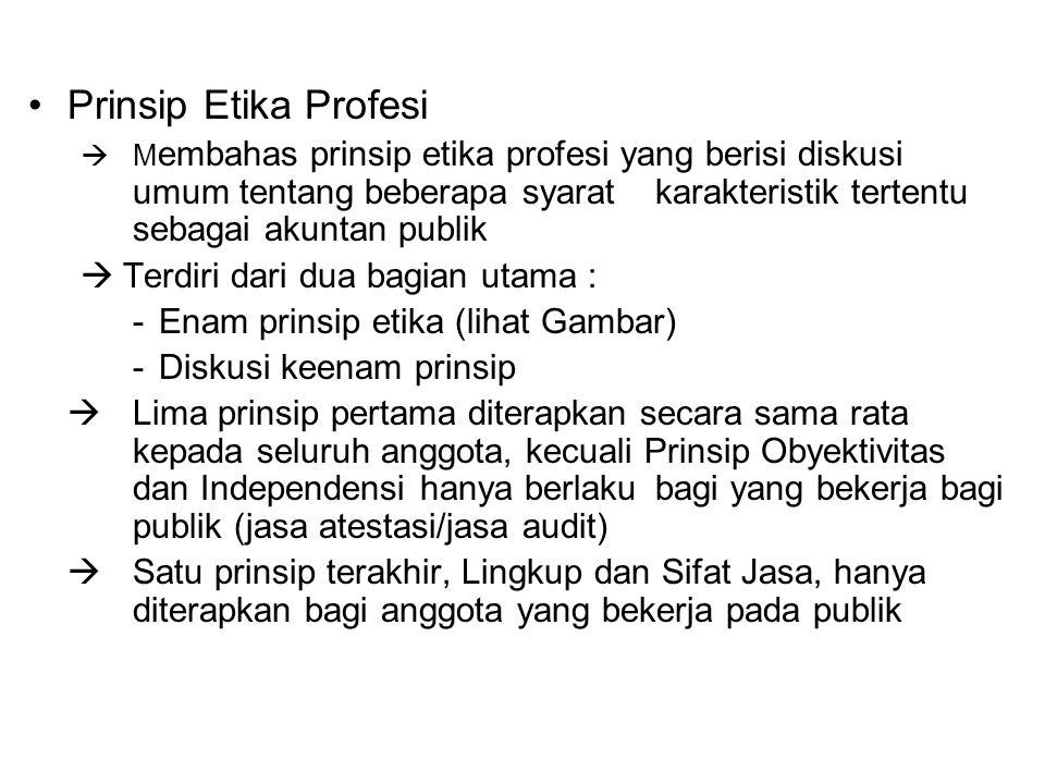 Prinsip Etika Profesi Terdiri dari dua bagian utama :