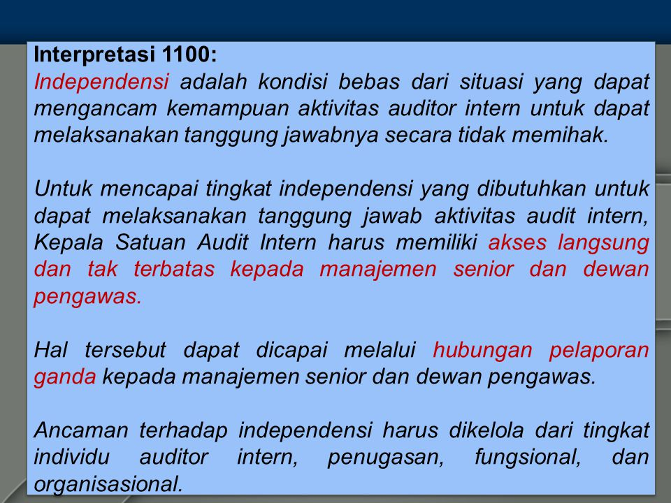 Interpretasi 1100: