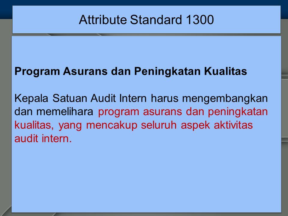 Attribute Standard 1300 Program Asurans dan Peningkatan Kualitas