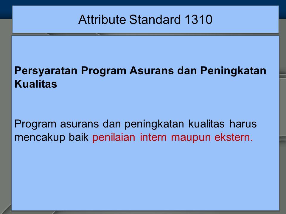 Attribute Standard 1310 Persyaratan Program Asurans dan Peningkatan Kualitas.