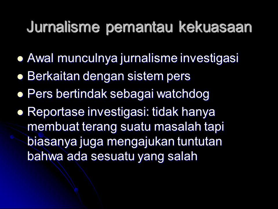 Jurnalisme pemantau kekuasaan