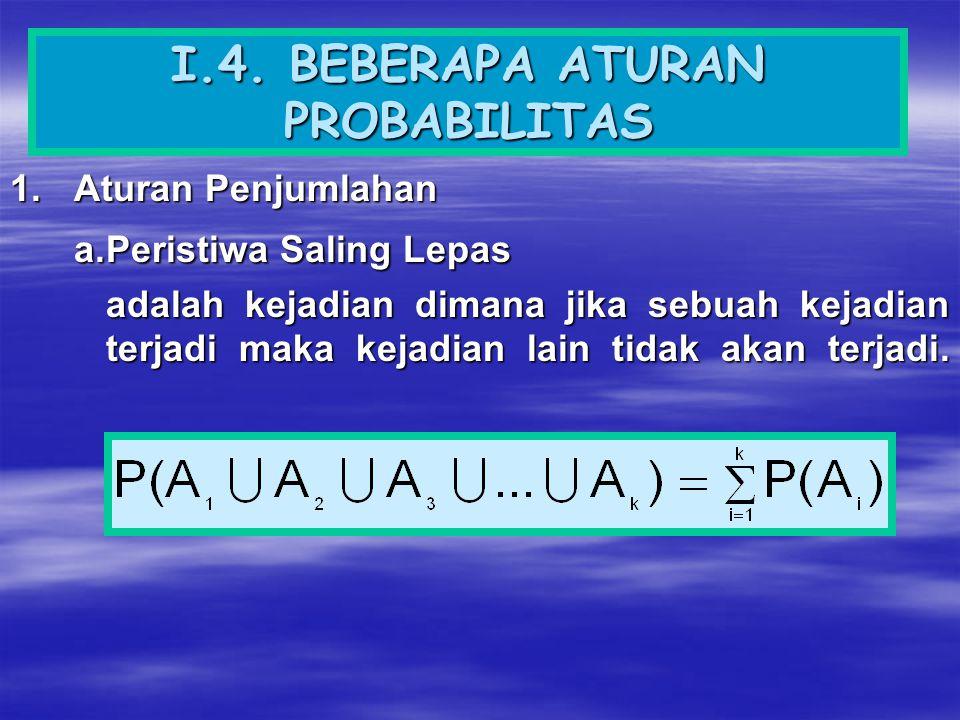 I.4. BEBERAPA ATURAN PROBABILITAS