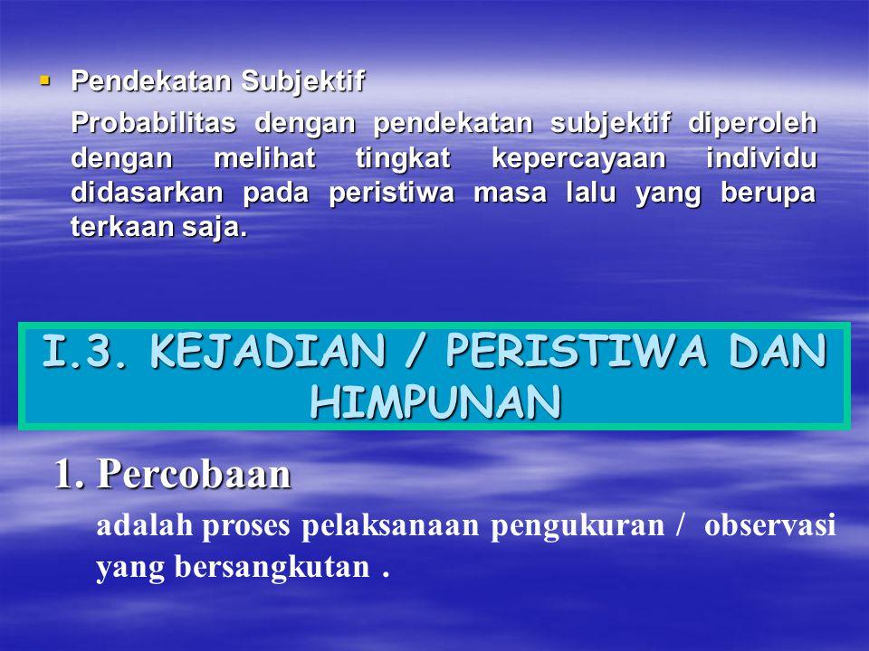 I.3. KEJADIAN / PERISTIWA DAN HIMPUNAN