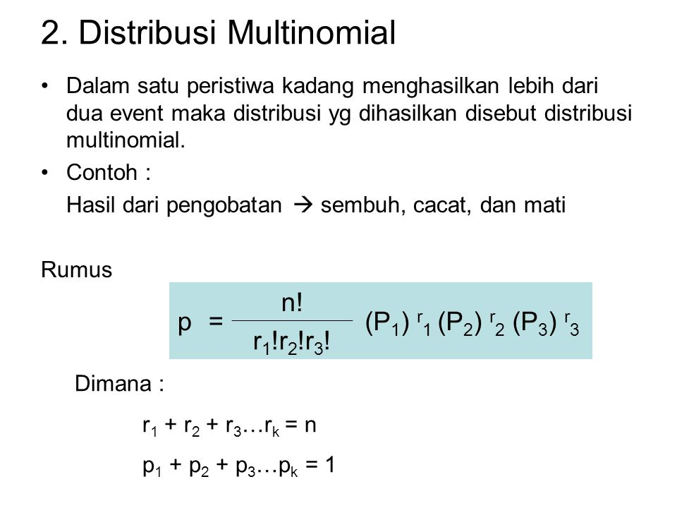 2. Distribusi Multinomial