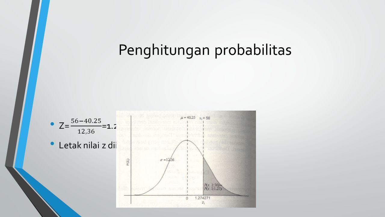 Penghitungan probabilitas