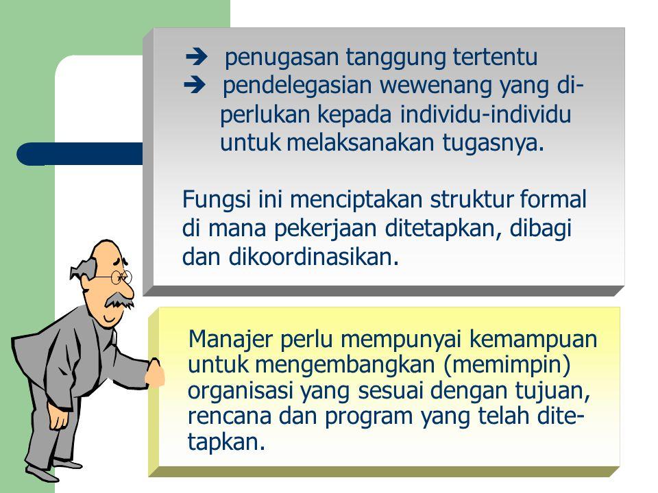  pendelegasian wewenang yang di- perlukan kepada individu-individu