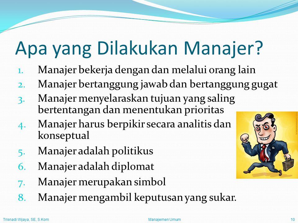 Apa yang Dilakukan Manajer