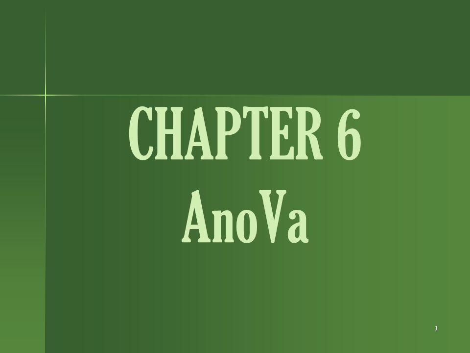 CHAPTER 6 AnoVa