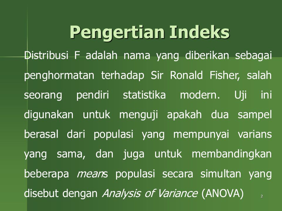 Pengertian Indeks
