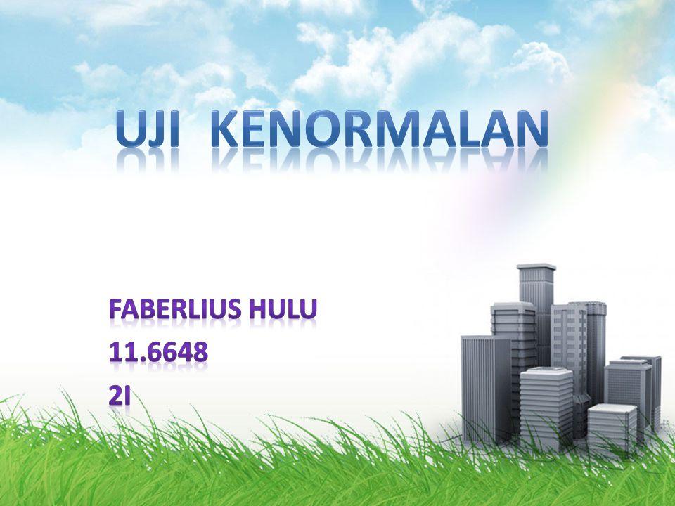 UJI KENORMALAN Faberlius Hulu 11.6648 2I