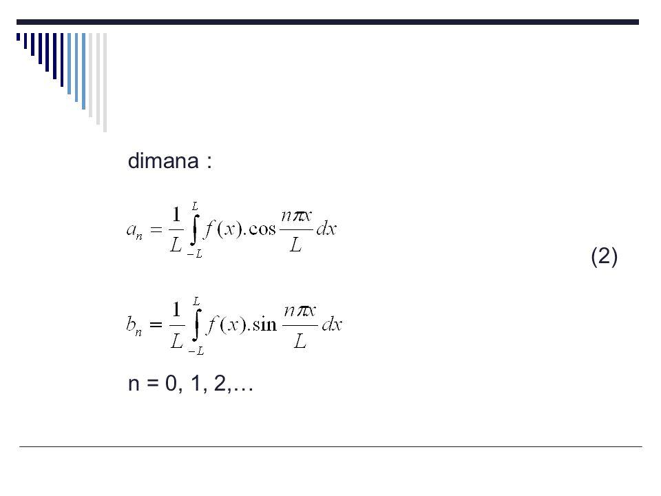 dimana : (2) n = 0, 1, 2,…