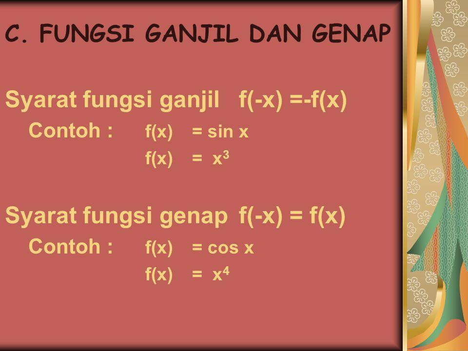 C. FUNGSI GANJIL DAN GENAP